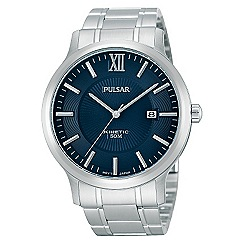 Pulsar - Men's stainless steel blue kinetic watch