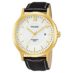 Pulsar - Men's black mock croc watch
