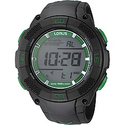 Lorus - Men's black resin digital watch