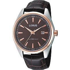 Lorus - Men's stainless steel watch with rose gold finished details