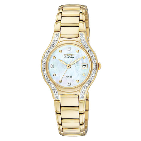 Citizen - Ladies modena design gold watch