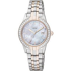 Citizen - Ladies silhouette crystal bracelet watch ew1686-59d