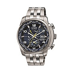 Citizen - Men's world time silver watch at9010-52l