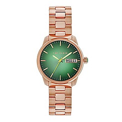 Ted Baker - Men's rose gold stainless steel analogue watch