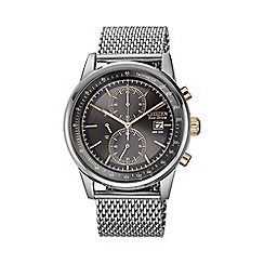 Citizen - Men's mesh chronograph silver watch ca0336-52h