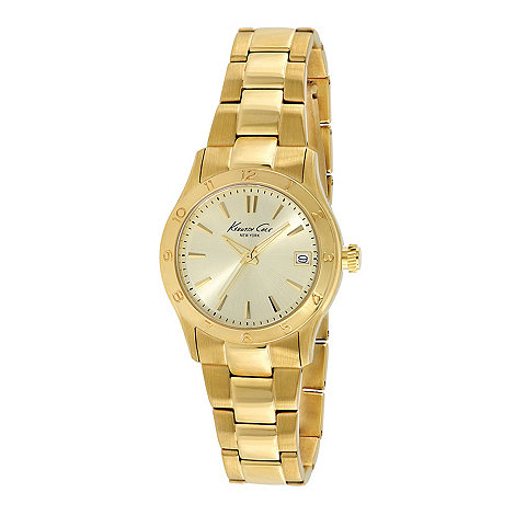 Kenneth Cole - Ladies gold plated analogue watch