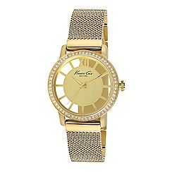 Kenneth Cole - Ladies yellow gold plated analogue watch