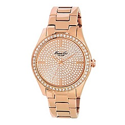 Kenneth Cole - Ladies rose gold plated analogue watch