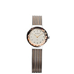 Skagen - Ladies two-tone mesh with mirrored case watch
