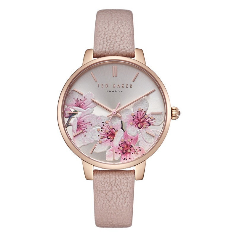 e03c0d6be9ef Ted Baker - Ladies Pink  Kate  Analogue Leather Strap Watch Te50272004