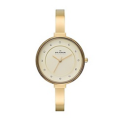 Skagen - Womens 'Gitte' stainless steel bracelet bangle watch