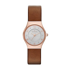 Skagen - Womens 'Grenen' leather watch