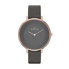 Skagen - Womens 'Ditte' leather watch