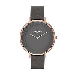 Skagen - Womens 'Ditte' leather watch