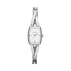 DKNY - Ladies stainless steel crosswalk rectangle dial watch