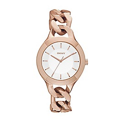 DKNY - Ladies stainless steel big chain-style bracelet watch