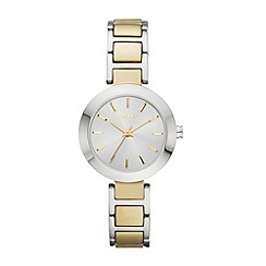 DKNY - Ladies gold-tone and stainless steel round dial stanhope watch