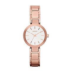 DKNY - Ladies rose gold-tone stainless steel round dial stanhope watch