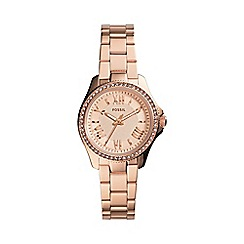 Fossil - Ladies mini Cecile three-hand watch in rose gold-tone am4578