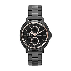 Fossil - Ladies Chelsey watch with black IP bracelet