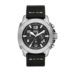 Fossil - Mens Modern Machine watch with black strap