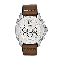 Fossil - Mens Modern Machine watch with brown strap