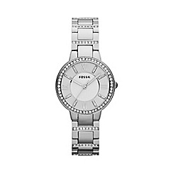 Fossil - Ladies Virginia watch in silver-tone with glitz