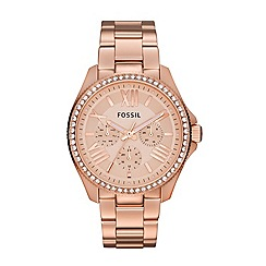 Fossil - Ladies Cecile three-hand watch in rose gold-tone
