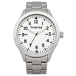 Firetrap - Gent's silver coloured bracelet watch