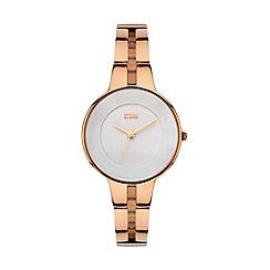 STORM - Ladies rose gold slim bangle watch