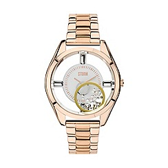 STORM - Ladies clear caseback & crystal set analogue bracelet watch