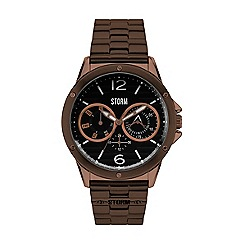 STORM - Men's brown multifunction bracelet watch