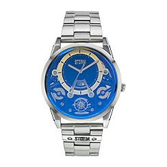 STORM - Men's blue multi layer dial & date bracelet watch