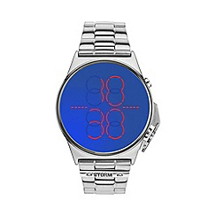 STORM - Men's blue LED display bracelet watch