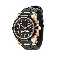 Police - Men's black and rose gold strap watch
