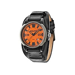Police - Men's black and orange cuff watch