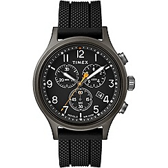Police - Men's black and gold ana-digi watch