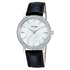 Pulsar - Ladies dress strap watch in stainless steel