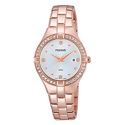 Pulsar - Ladies rose gold bracelet dress watch