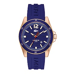 Lacoste - Men's watch with blue silicone strap & blue dial