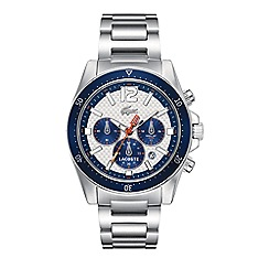 Lacoste - Men's grey bracelet watch with blue chronograph