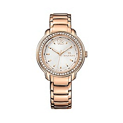 Tommy Hilfiger - Ladies quartz rose gold plated  bracelet watch