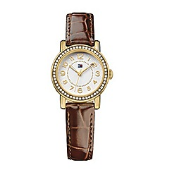 Tommy Hilfiger - Ladies quartz brown strap watch