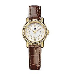 Tommy Hilfiger - Ladies quartz brown strap watch