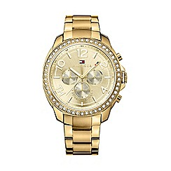 Tommy Hilfiger - Ladies chronograph gold plated bracelet watch
