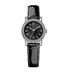 Tommy Hilfiger - Ladies quartz black strap watch