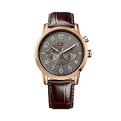 Tommy Hilfiger - Men's chronograph black strap watch