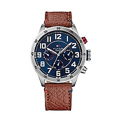 Tommy Hilfiger - Men's chronograph brown strap watch