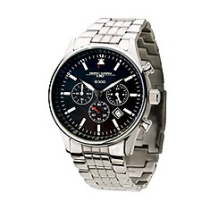 Jorg Gray - Mens black chronograph bracelet watch