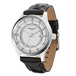 Jorg Gray - Mens black leather 3 hand strap watch